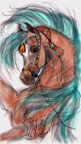 Arab with Turquoise Tassles